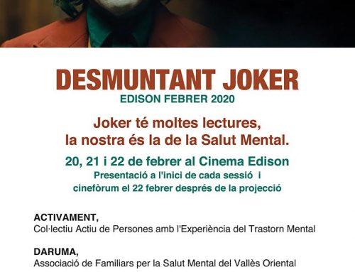 """""""Desmuntant Joker"""", CineFórum en el Cinema Edison, con ActivaMent Granollers, Daruma y Benito Menni"""