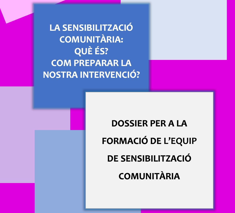 Portada Dossier per a la Formació de l'Equip de Sensibilització Comunitària