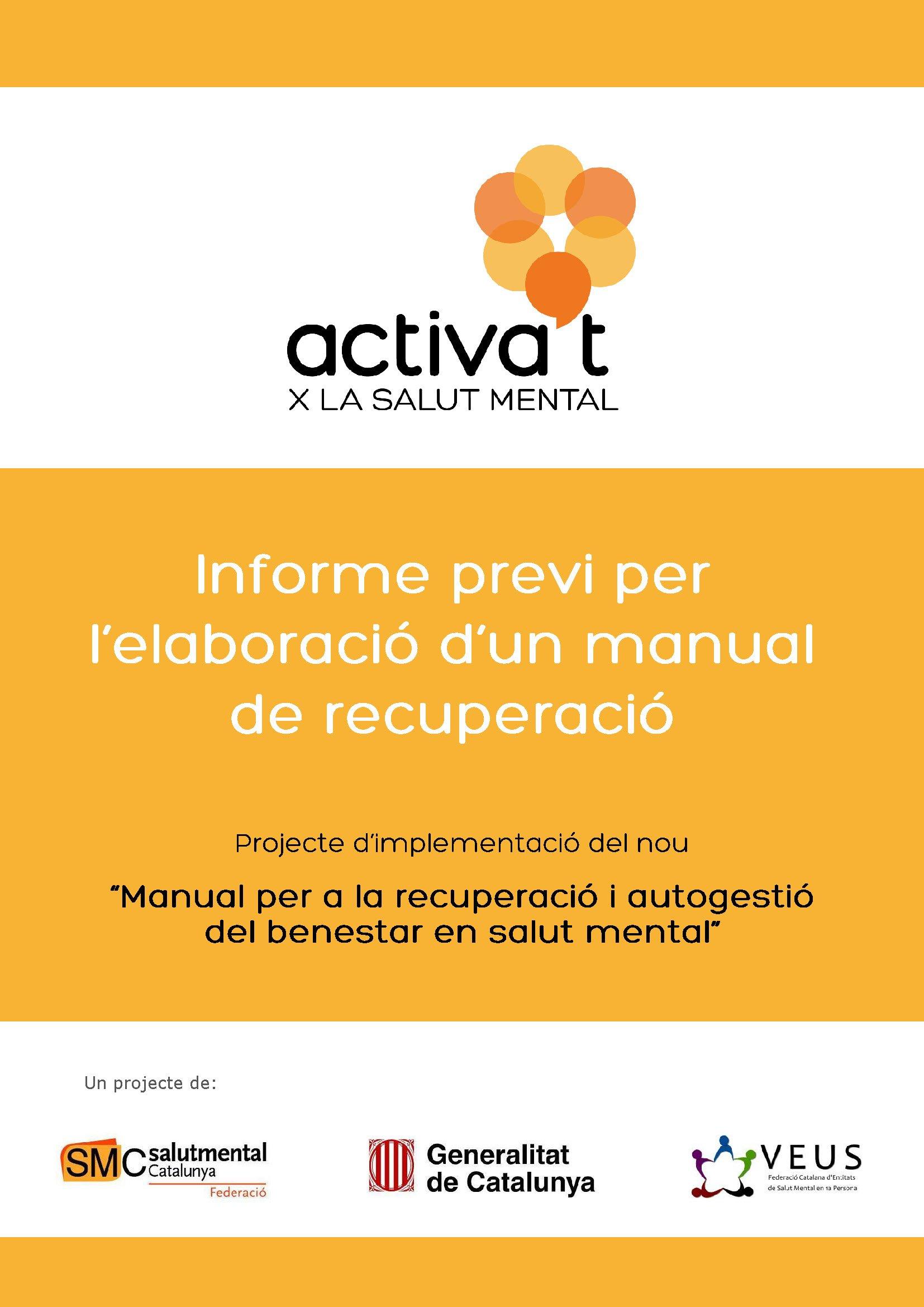 Portada Informe Previ per l'Elaboració d'un Manual de Recuperació