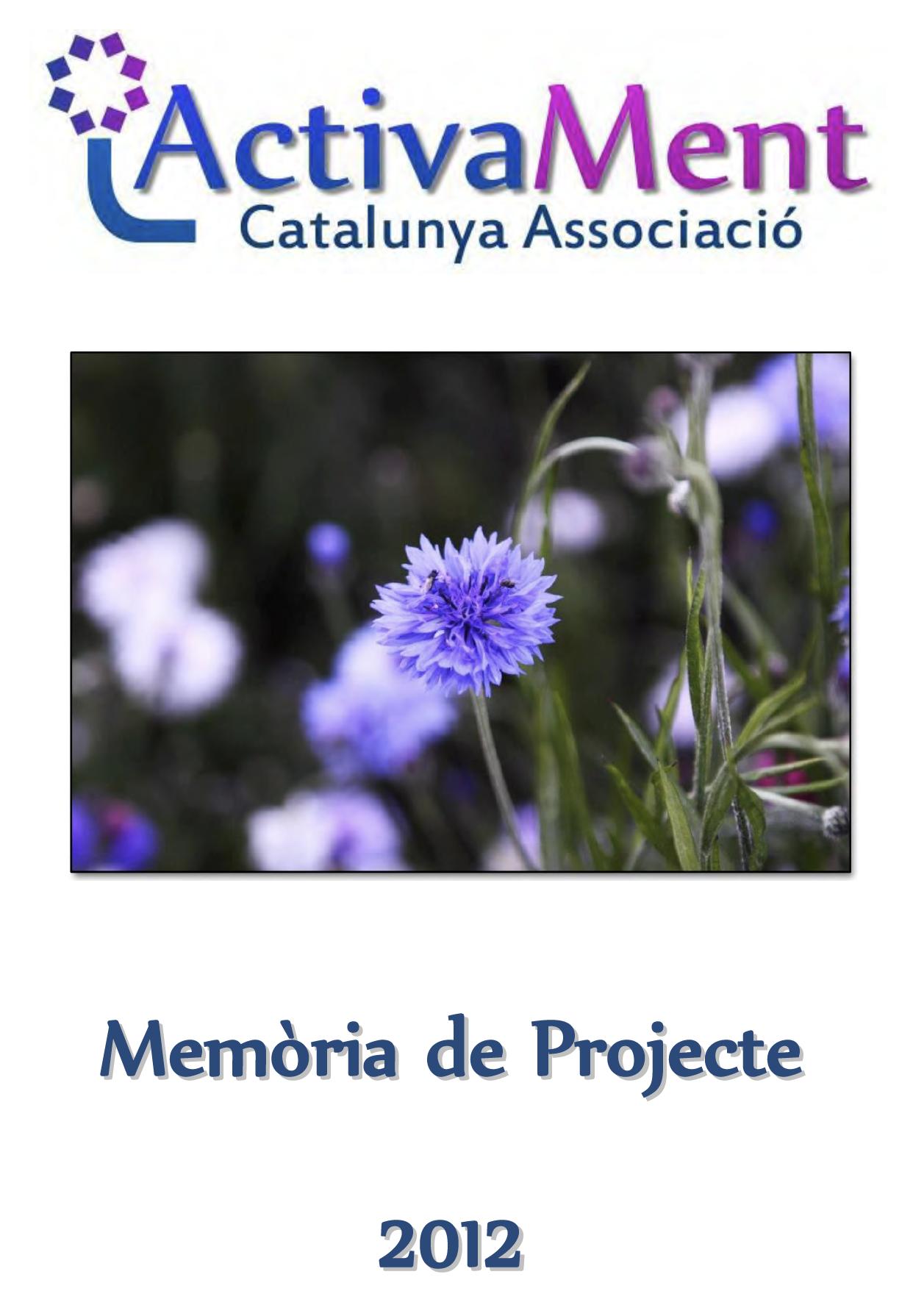 Portada Memòria 2012